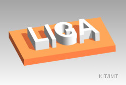 LIGA-process: Developed structure