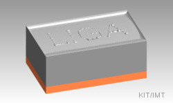LIGA-process: Nickel mould after electroplating
